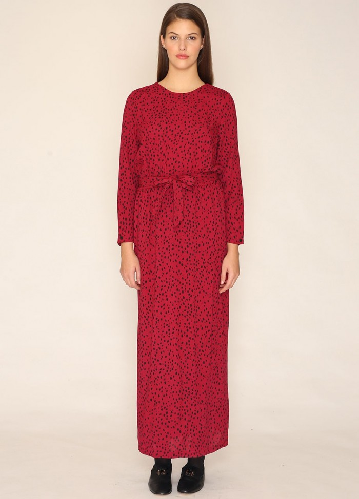 VICTORIA LONG DRESS BURGUNDY