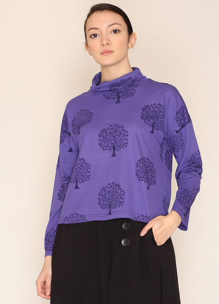 NANCY T-SHIRT HIGH NECK PURPLE