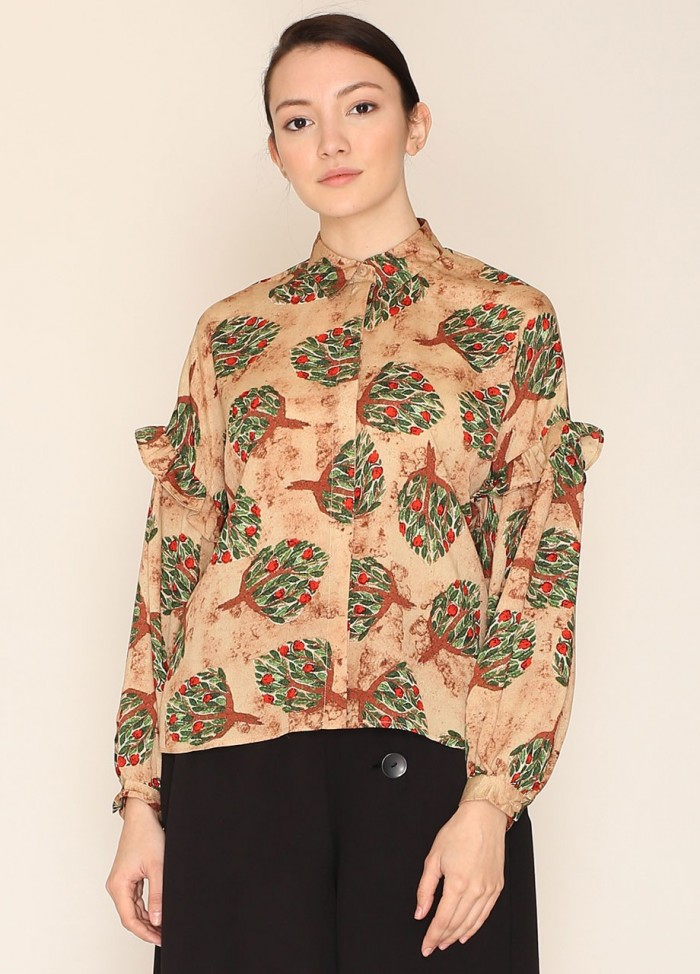 Camisa Eleanor camel