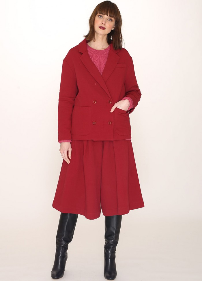 COTTON JACKET RED