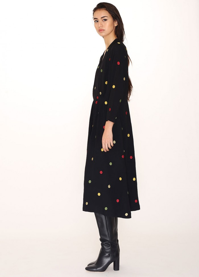 EMB.DOTS DRESS