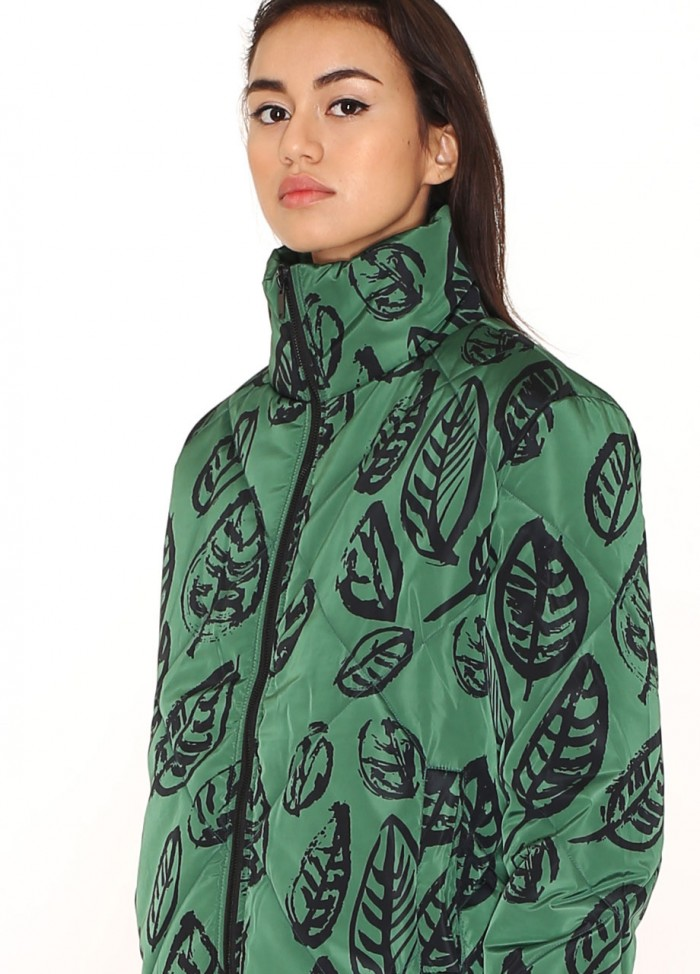 GREEN LEAVES PUFFY JACKET