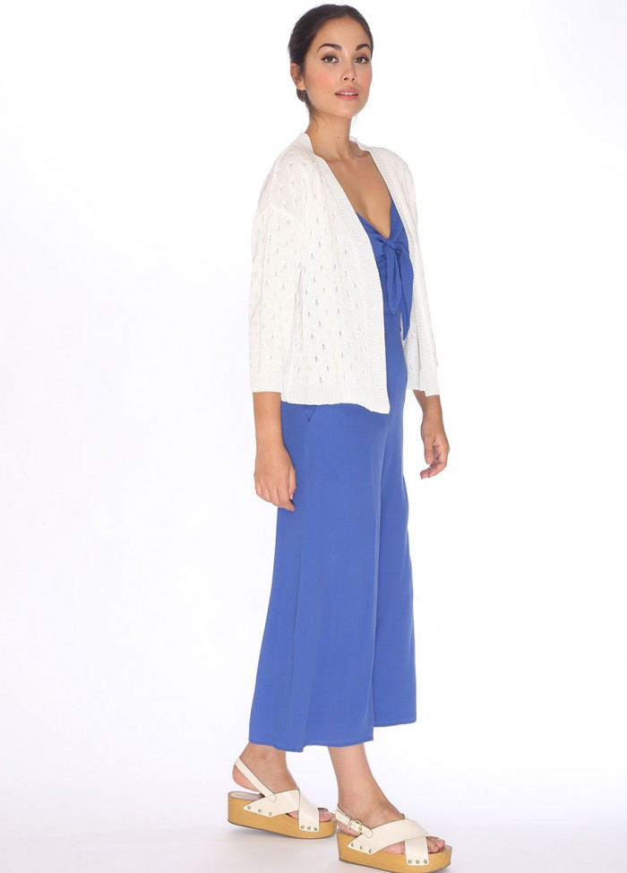 CARDIGAN POINTELLE WHITE