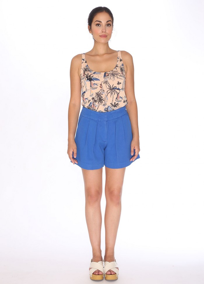 CANVAS SHORT BLUE