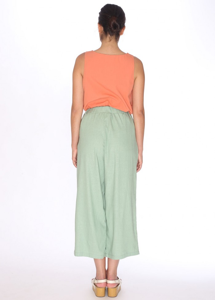 LINEN TROUSERS GREEN