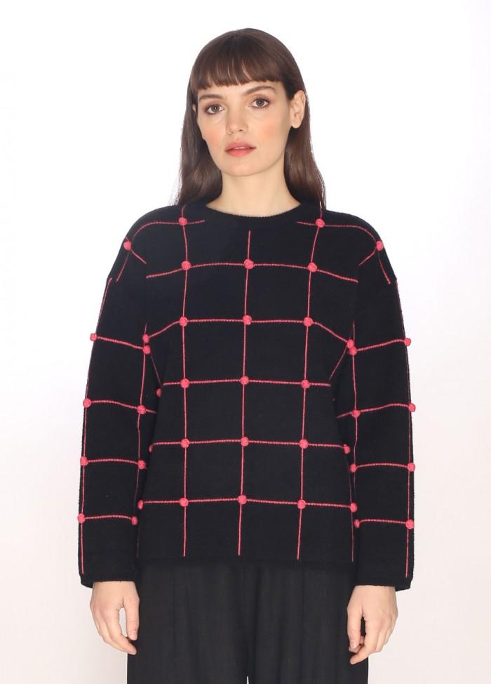 Damask sweater black